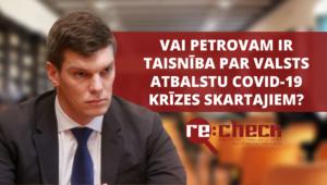 Petrovs no Alternative maldina par valsts atbalstu krīzes skartajiem