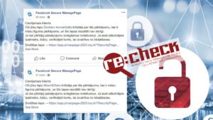 Prasot apstiprināt Facebook kontu, viltvārži cer izkrāpt kredītkartes datus