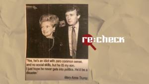 Trampa māte dēlu publiski nav saukusi par idiotu